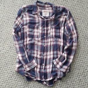 Plaid  boyfriend fit shirt